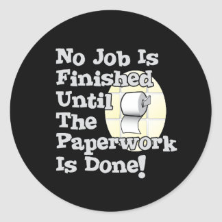 Paperwork Classic Round Sticker