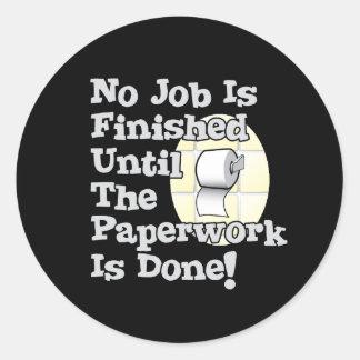 Paperwork Classic Round Sticker