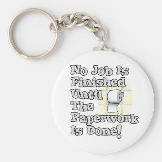Paperwork Basic Round Button Keychain