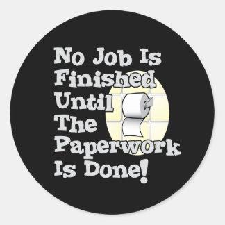 Paperwork Round Stickers