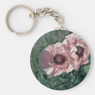 Papery Baby Pink Basic Round Button Keychain