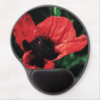 Papery Red Poppy Gel Mouse Pads