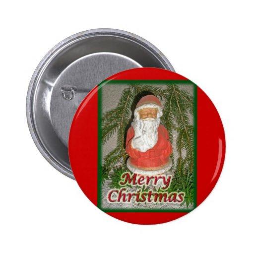 Papier Mache Christmas Santa Matching Items Pins
