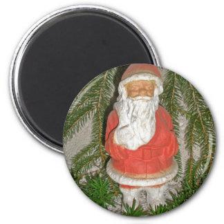 Papier Mache Red Coated Santa Christmas Magnet