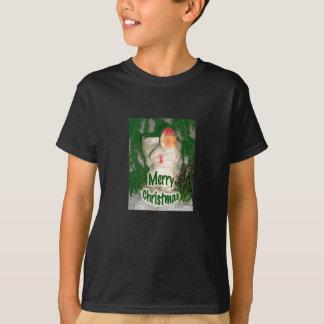 Papier Mache White Coated Santa Holiday Items T-Shirt