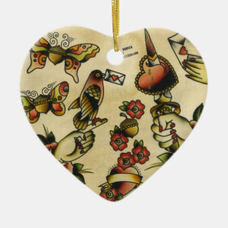 papigland adorno de cerámica en forma de corazón