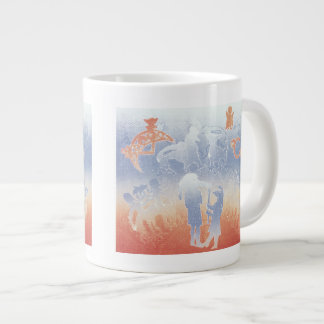 Papil birdman goes wandering 1995 large coffee mug