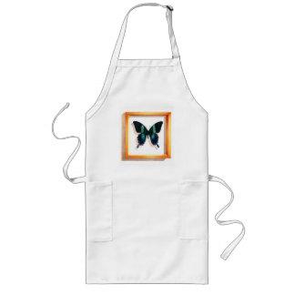 """Papilio blumei"" Butterfly Watercolor Long Apron"