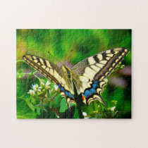 Papilio Machaon Butterfly. Jigsaw Puzzle