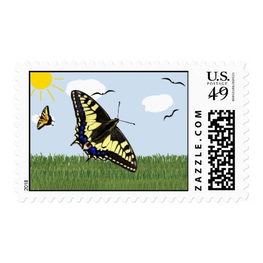 Papilio Swallowtail Sello
