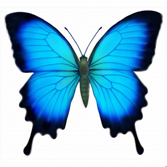 Papilio Ulysses Butterfly Ornament