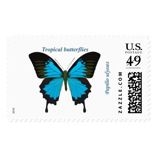 Papilio ulysses postage stamps