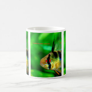 Papiliochromis ramirezi classic white coffee mug