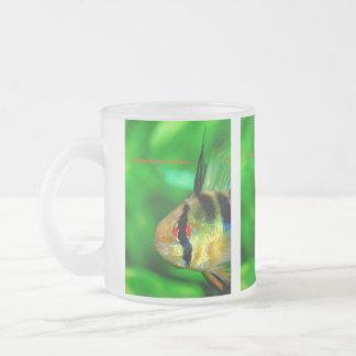 Papiliochromis ramirezi 10 oz frosted glass coffee mug