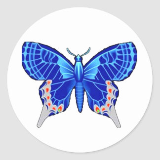 Papillion gris etiquetas redondas