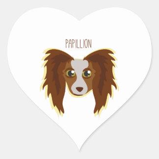 Papillion Calcomanía De Corazón Personalizadas