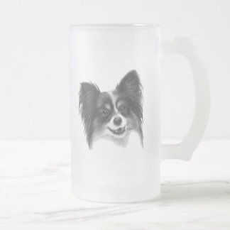 Papillon 16 Oz Frosted Glass Beer Mug