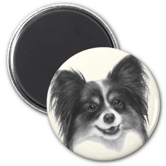 Papillon 2 Inch Round Magnet