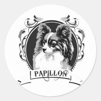 PAPILLON 2 PEGATINA REDONDA
