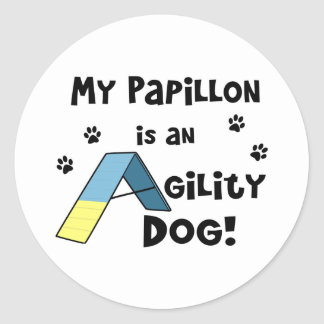 Papillon Agility Dog Stickers