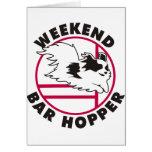Papillon Agility Weekend Bar Hopper Greeting Card