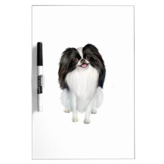 Papillon (black and white) dry erase board