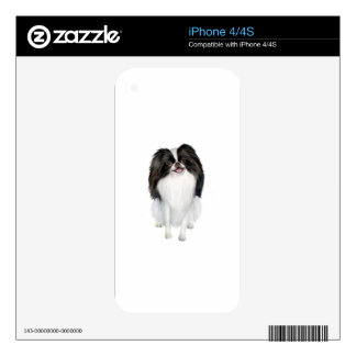 Papillon (black and white) iPhone 4 skin