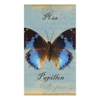 Papillon bleu business card templates