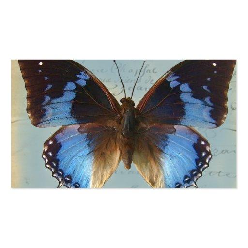 Papillon bleu business card template