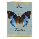 Papillon bleu Happy Birthday Cards