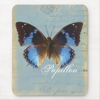 Papillon bleu mouse pad