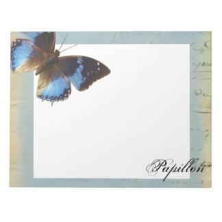 Papillon bleu scratch pad