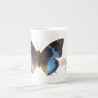 Papillon bleu tea cup