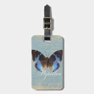 Papillon bleu tag for luggage