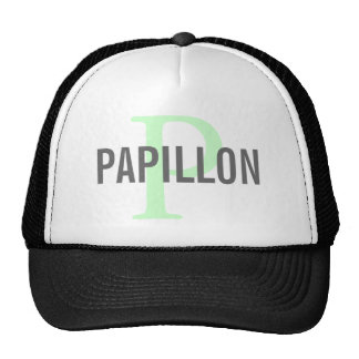 Papillon Breed Monogram Design Trucker Hat
