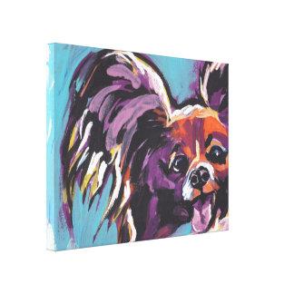 Papillon Bright Colorful Pop Dog Art Canvas Print