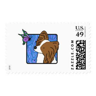 Papillon Butterfly Dog Postage Stamps