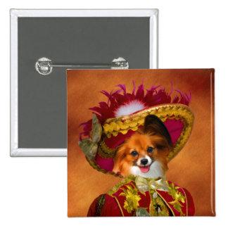 Papillon Button Nobility Dogs Gift