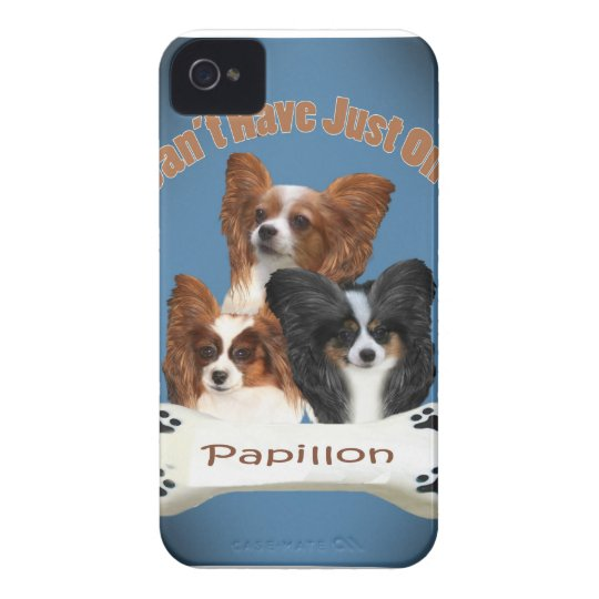 Papillon Can't Have Just One Blackberry Bold Phone iPhone 4 Case-Mate Case