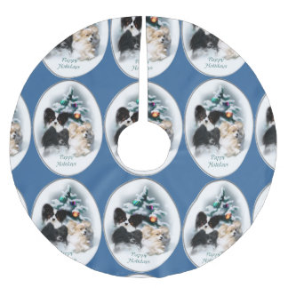 Papillon Christmas Gifts Brushed Polyester Tree Skirt