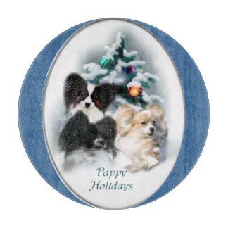 Papillon Christmas Gifts Cutting Board