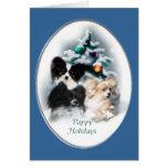 Papillon Christmas Gifts Greeting Card