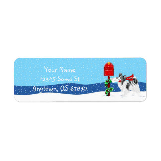 Papillon Christmas Mail BW Color Labels