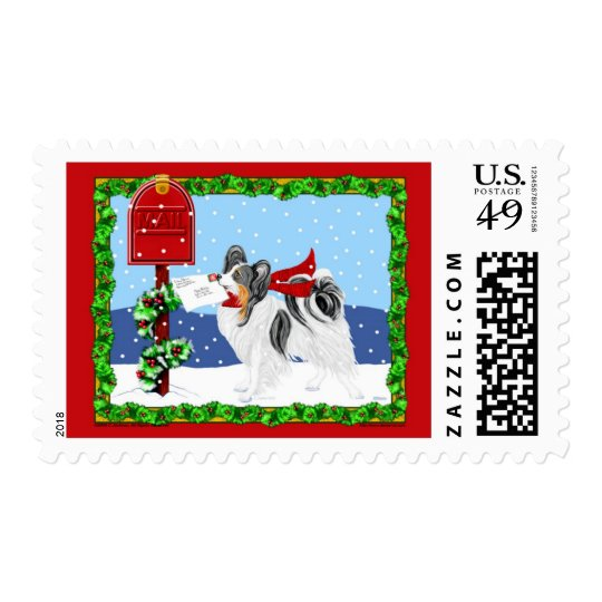 Papillon Christmas Mail Tri Color Postage