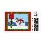 Papillon Christmas Mail Tri Color Stamp