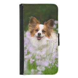 Galaxy S5 Wallet Case with Papillon Phone Cases design