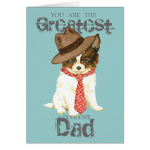 Papillon Dad Card
