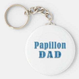 Papillon Dad Key Chains