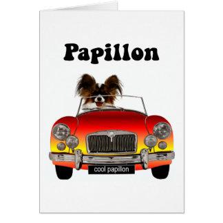 Papillon divertido felicitacion