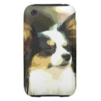 PAPILLON  DOG ART TOUGH iPhone 3 CASES